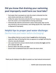 Pool Water Disposal